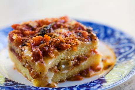 Polenta Casserole with Fontina and Tomato Sauce Recipe | Simply ...