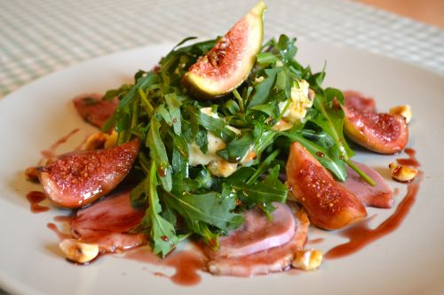 Smoked Duck Salad with Glazed Figs, Blue Cheese & Hazlenuts by @The ...