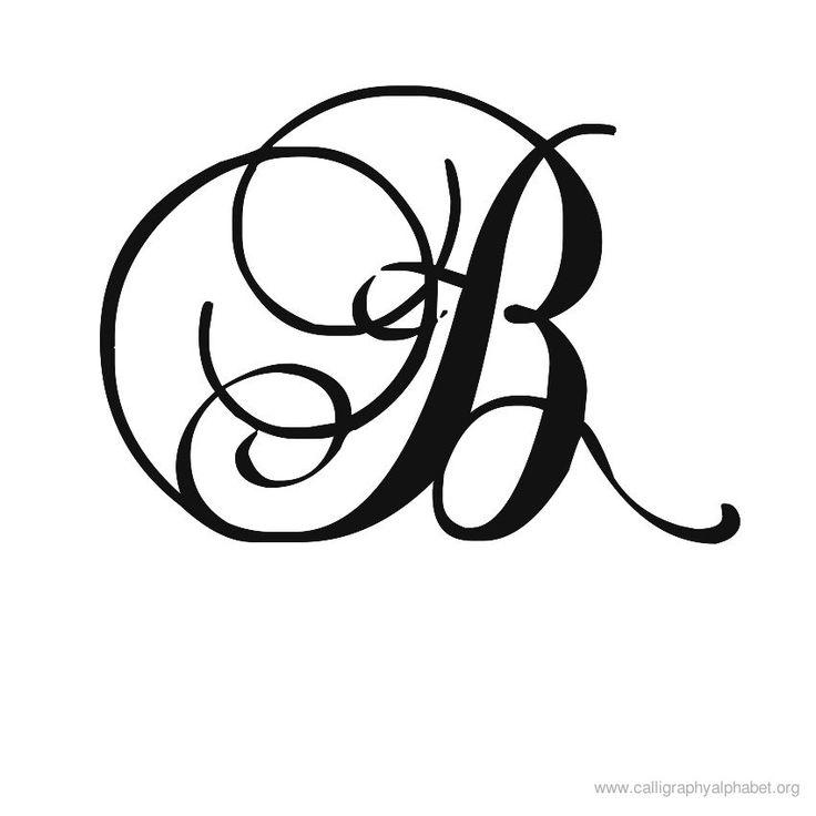 Calligraphy alphabet romantic b pinterest