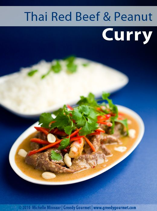 Thai Red Beef Curry in Sweet Peanut Sauce | Greedy Gourmet