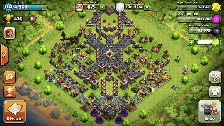 Cool base clash of clans pinterest