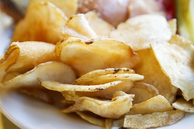 Homemade potato chips from Cheeseslave | POTATOES | Pinterest