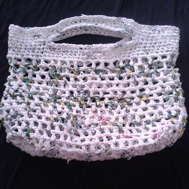 Crocheted Plarn Handbag