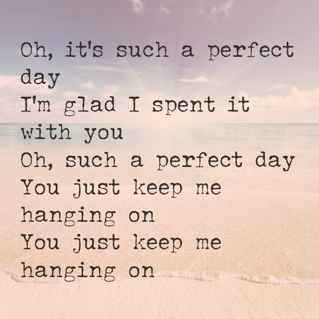 Perfect Day By Lou Reed Lyrics How To Remove Tap Windows Adapter V9