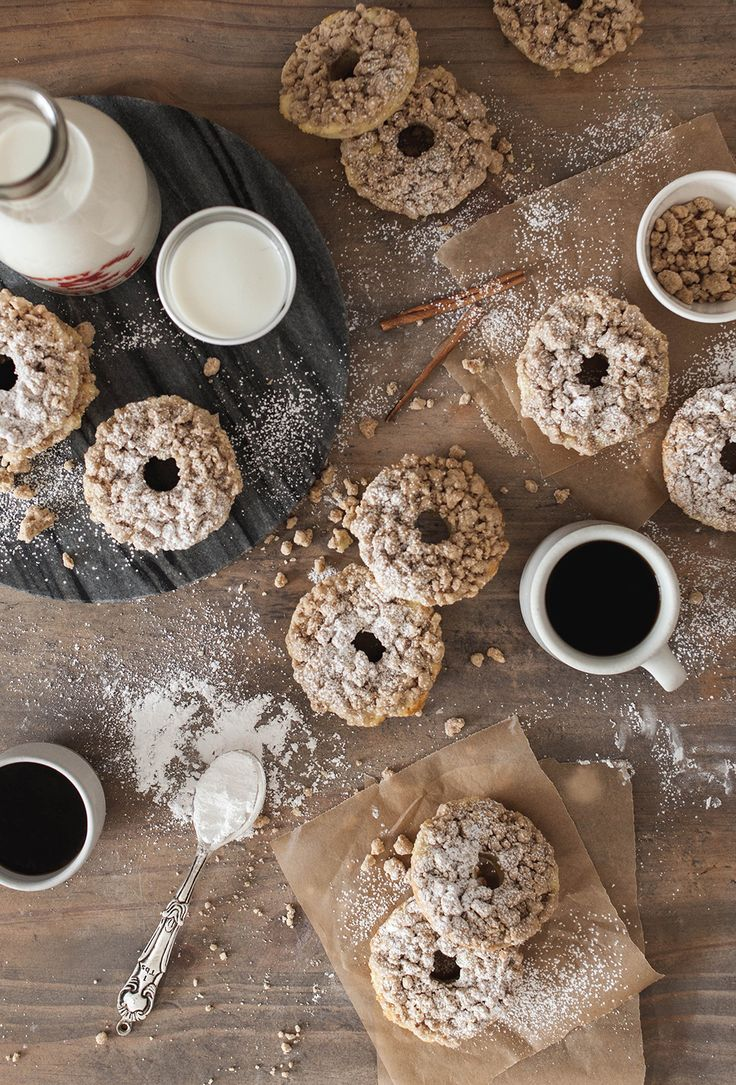 coffee cake donuts   food photography   Pinterest