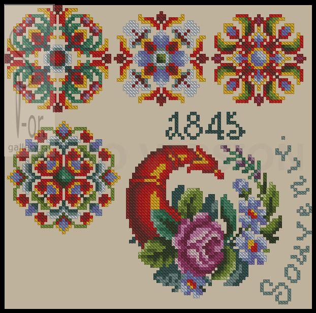 Украинская вышивка цветами