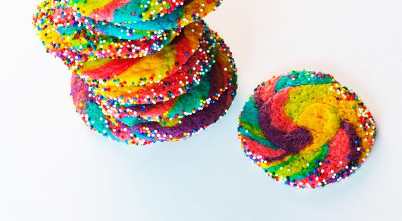Rainbow Pinwheel Cookies - I will be doing these the next time I make ...