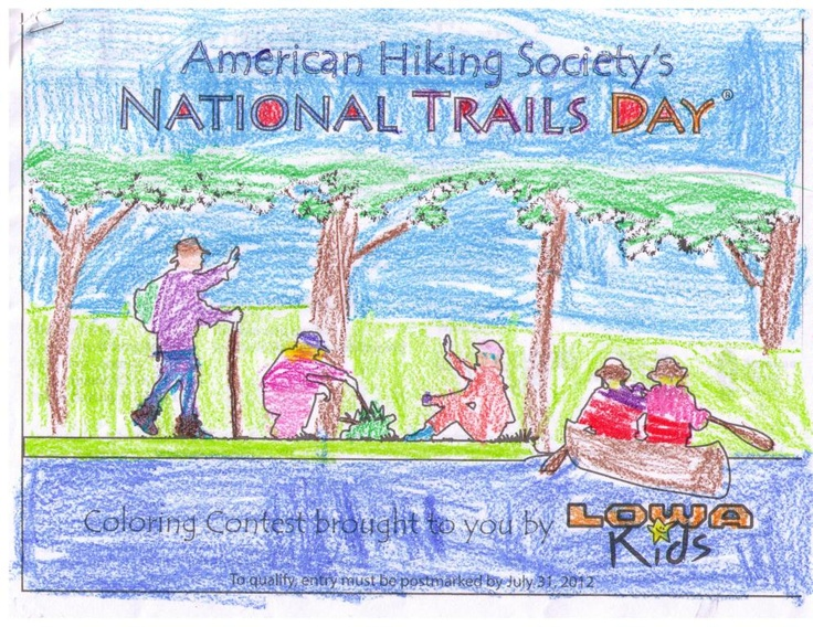 pin by american hiking society on junior hikers pinterest Coloring Contest Flyer  Coloring Contest Age Groups