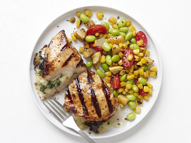 Cheese-Stuffed Chicken with Succotash #RecipeOfTheDay
