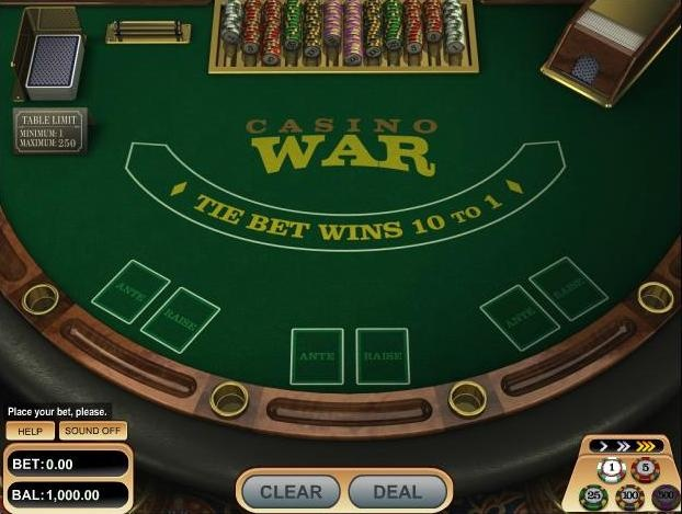 how to play casino war card game