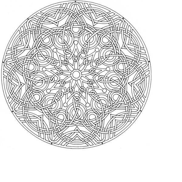Celtic Cross Mandala Coloring Pages