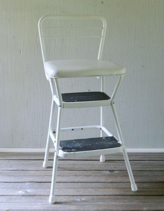 vintage cosco kitchen step stool by lisabretrostyle2 on etsy