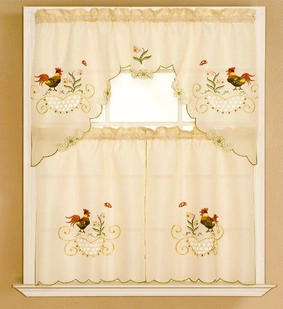 Rooster Curtains Windows Pinterest