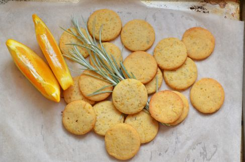 More like this: shortbread , rosemary and oranges .
