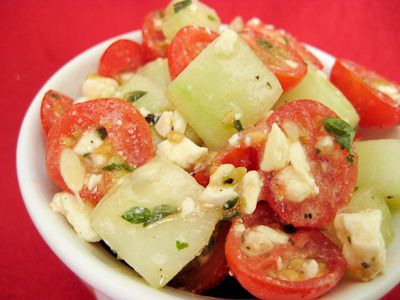 Cherry Tomato Cucumber Feta Salad Recipe — Dishmaps