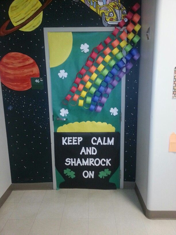 Classroom Door Decoration Ideas For March ~ St patrick s day classroom door march doors