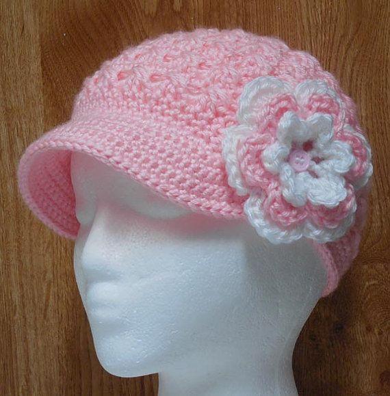 Crochet Hat Pattern Teenager : PDF CROCHET PATTERN Newsboy twist up hat in Adult-Teen ...