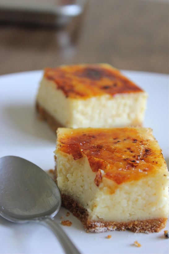 Crème Brûlée Cheesecake Bars | Yum! That's good for the soul ...