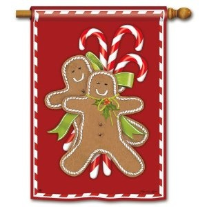 Gingerbread Men House Flag