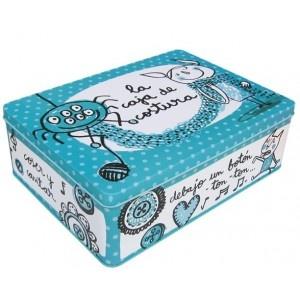 Caja metal La caja de costura marca Laroom, ilustración anna llenas www.laroom.com