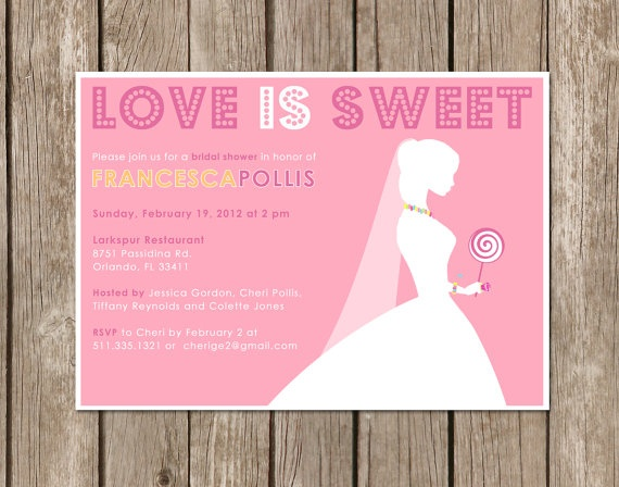 Bridal Shower Invitation LOVE IS SWEET