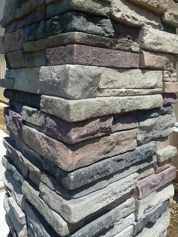 Stacked Stone Columns : Stacked stone column patio ideas pinterest