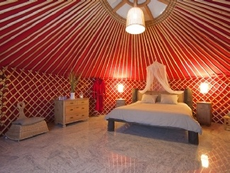 Why stay in a tent when you could stay in a yurt?