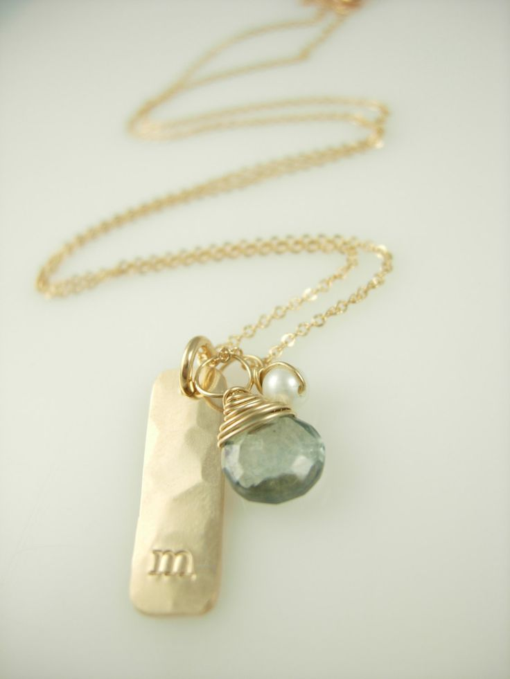 personalized initial necklace by jamesmichellejewelry on