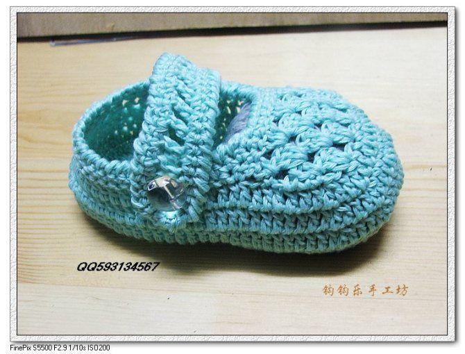 Crochet shoe with diagram Crochet Shoes Pinterest