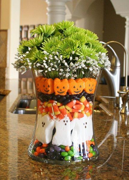 Halloween floral arrangement holidays pinterest