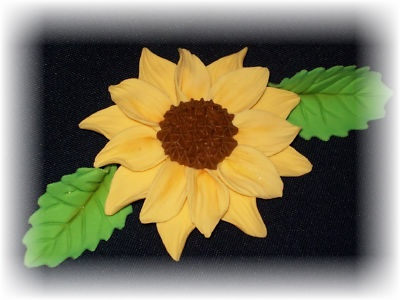 how to make gumpaste sunflowers