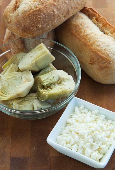 feta artichoke sandwich recipe | The Lunchbox | Pinterest