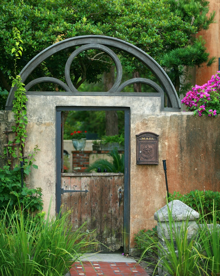 lovely entrance gate to a garden.