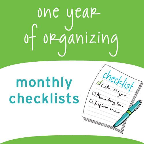 Monthly organizing printouts with a TO DO list for each month