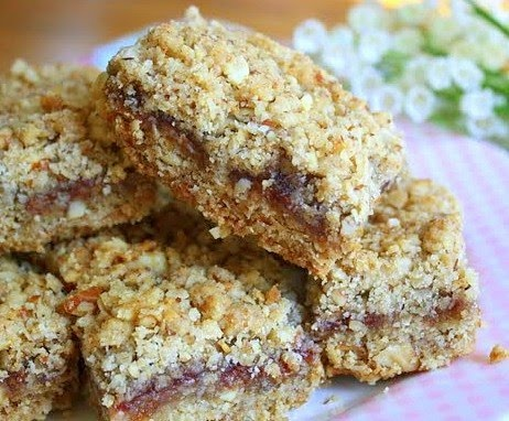 Raspberry Crumb Bar With Almond Streusel Recipes — Dishmaps