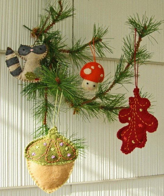 cute felt ornaments