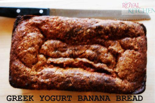 Greek Yogurt Banana Bread, a healthier alternative to a classic treat ...