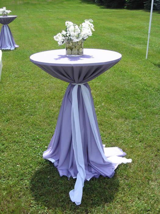 Hightop Tables In Purple Linens Lavender amp Mint Garden