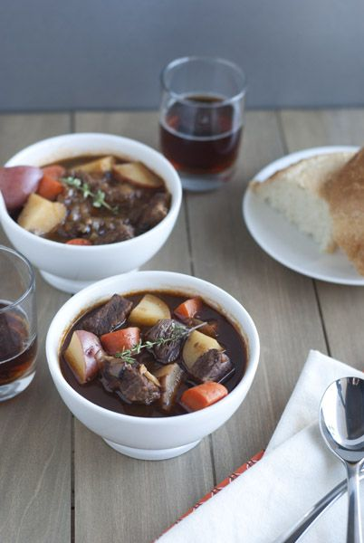 Beer Beef Stew - made this tonight (minus the thyme) substituting a ...