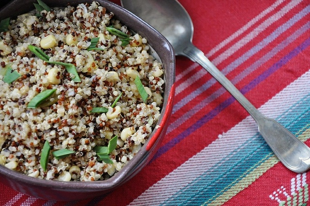 Quinoa with Corn and Scallions by holajalapeno