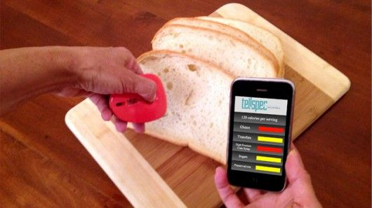 Tellspec is a handheld food scanner that connects to your smartphone