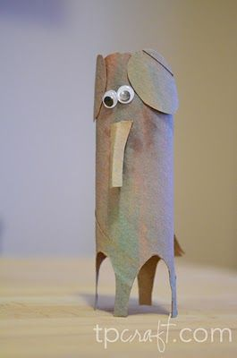 Paper tube animals...