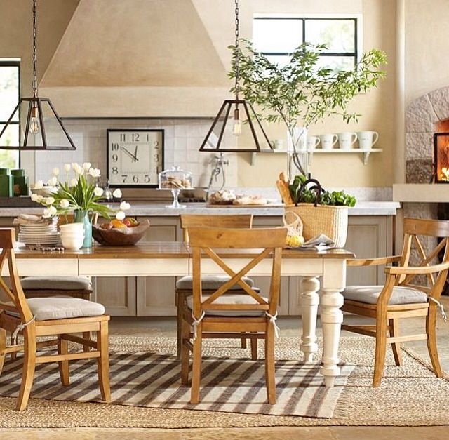 Pottery barn dining home dining room pinterest