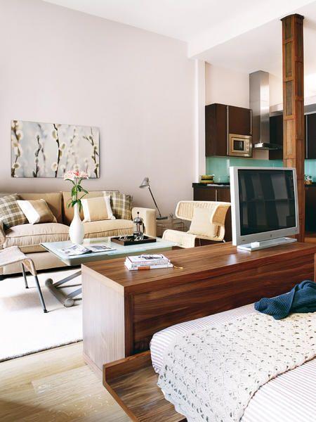 decoracao quarto kitnet: de decoração: QUITINETE, KITNET ou STUDIO: 35m2 bem aproveitados