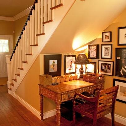 Desk Nook Under Stairs Home Pinterest