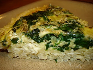 Brown Rice-Crusted Spinach Quiche