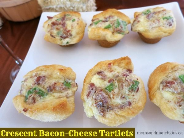 Crescent Bacon-Cheese Tartlet #Recipe