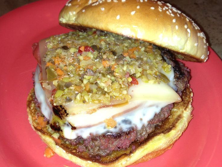 New Orleans Style Muffaletta Burger | favorite flavor recipies and mo ...