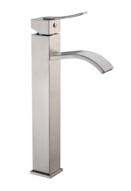 D78 1158 -- $282 -- Single-lever Square Tall Lavatory Faucet ~ Brushed ...