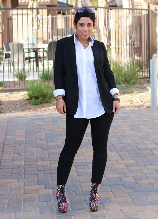 Suit jacket with leggings. | Business Casual | Pinterest